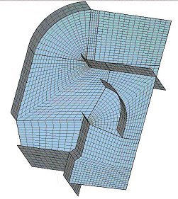 Geometry and grid of ventilation opening